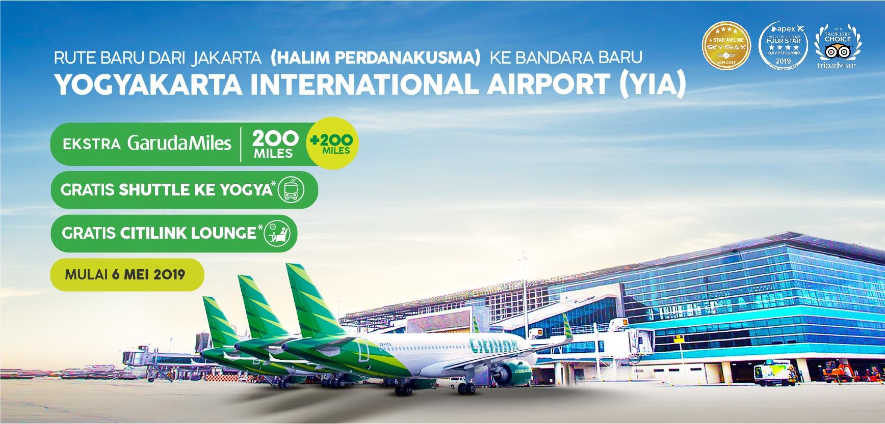 Penerbangan Citilink Dari Jakarta Hlp Ke Kulon Progo Yia