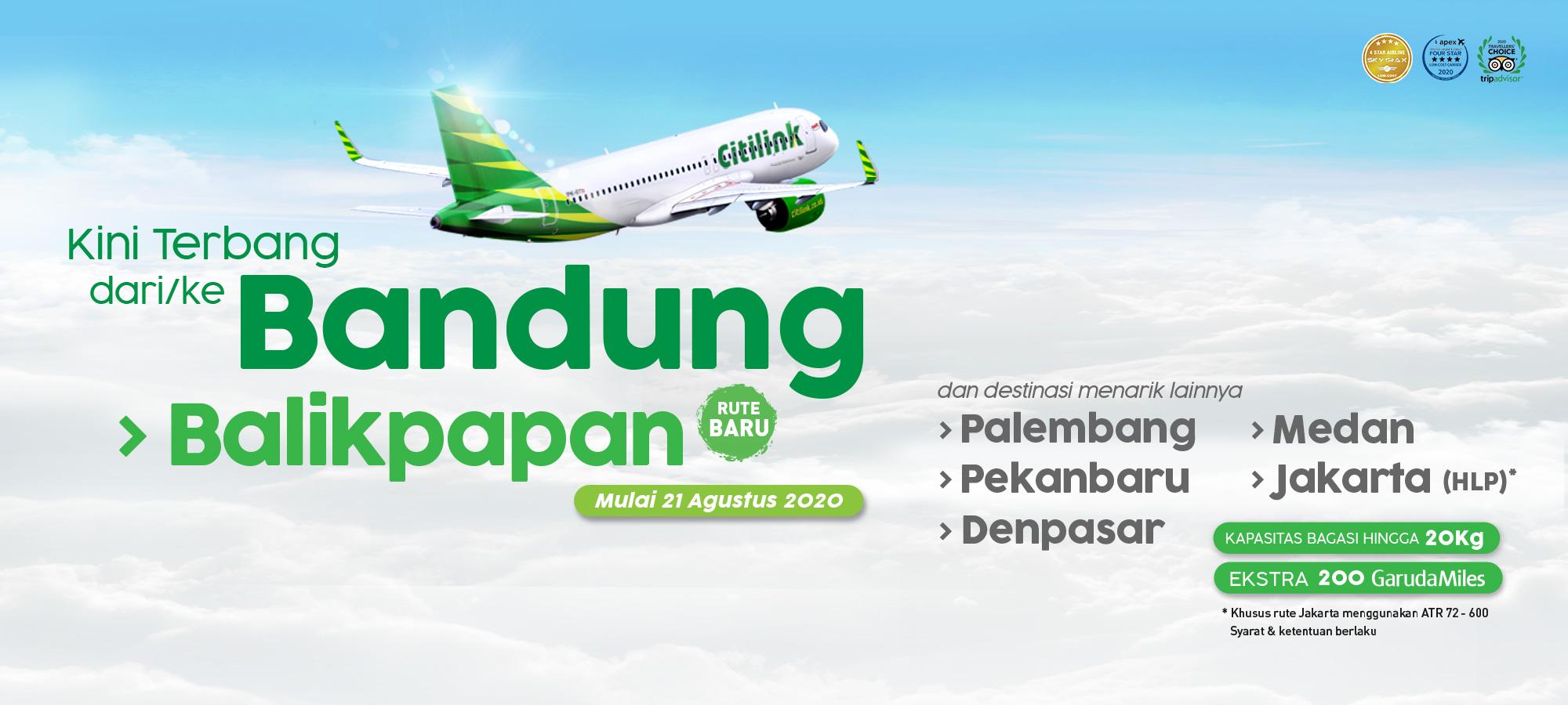Citilink Terbang Dari Ke Bandung Balikpapan
